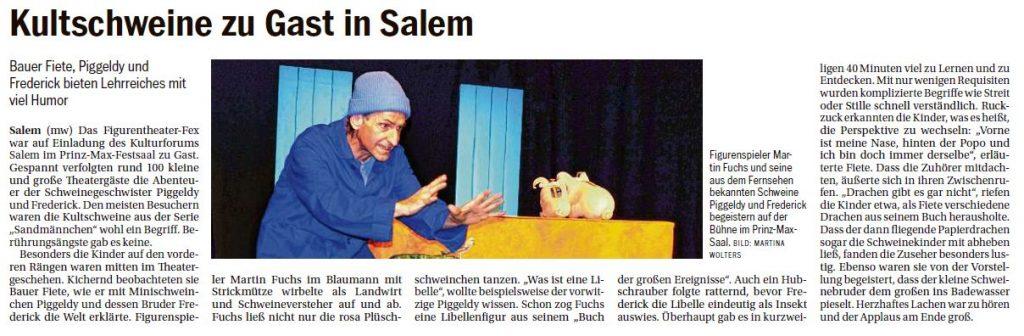 Kultschweine zu Gast in Salem